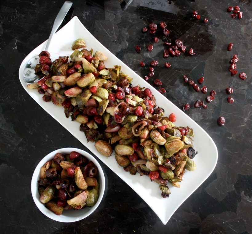 Cranberry caramelized Brussel sprouts