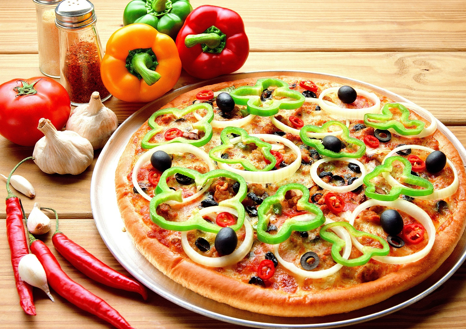 green-peppers-pizza