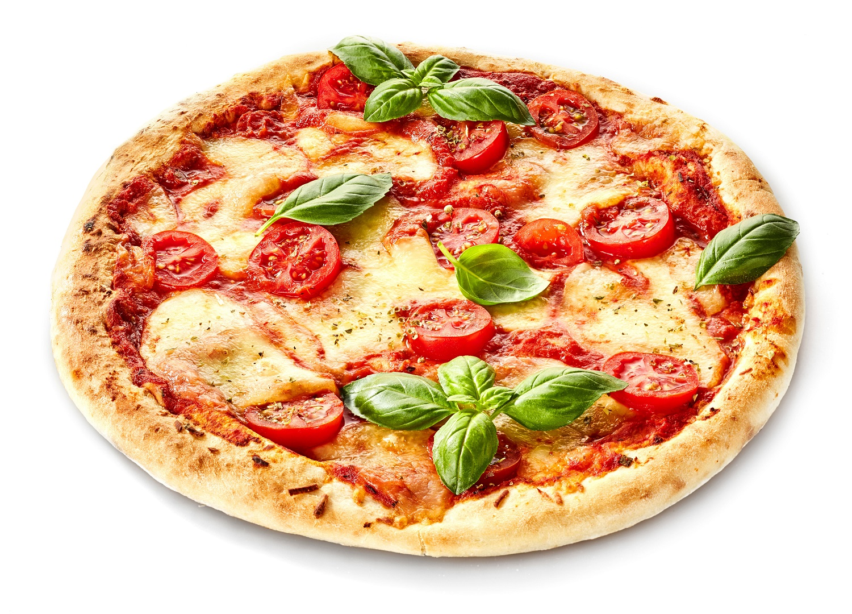 Pesto fresh or sundried tomatoes mozzarella pizza
