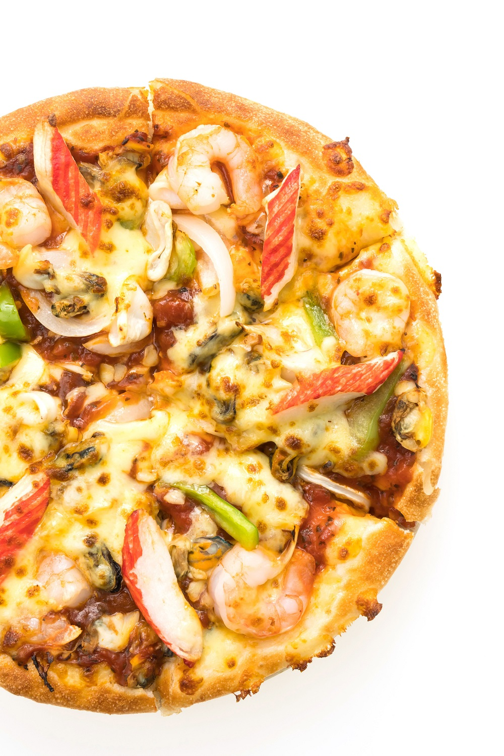 pizza with delicious toppings