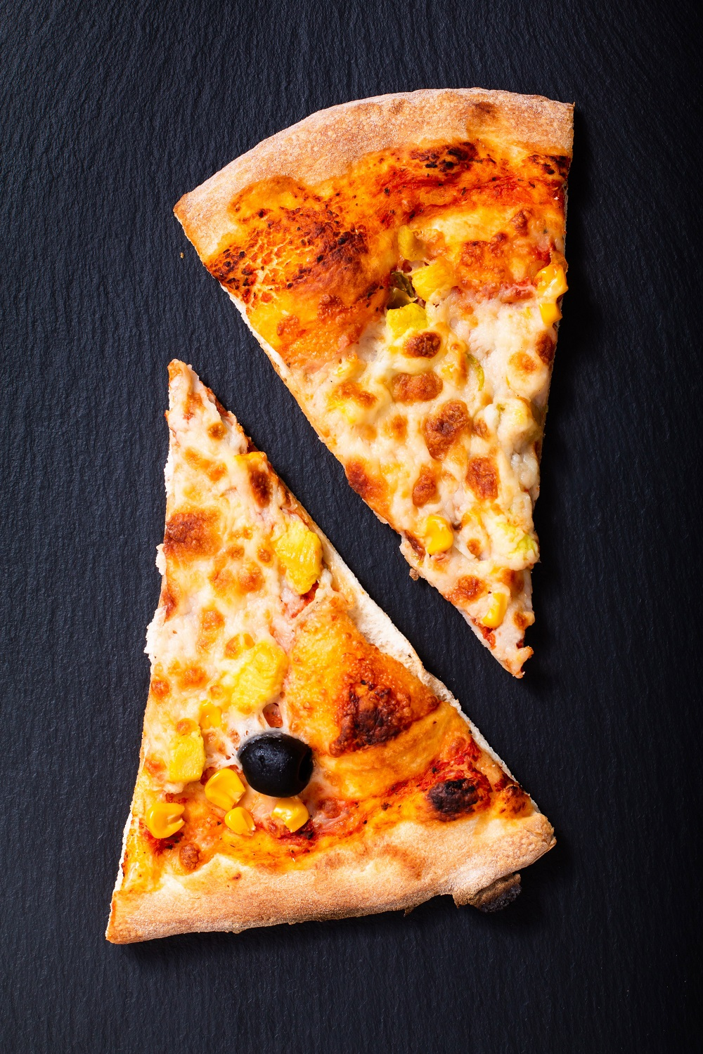two slice of pizza