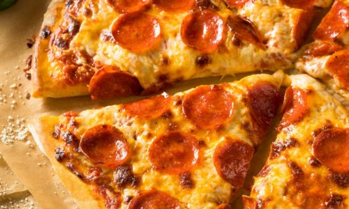 new york style pizza with Pepperoni 1