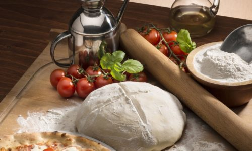 pizza and pizza dough