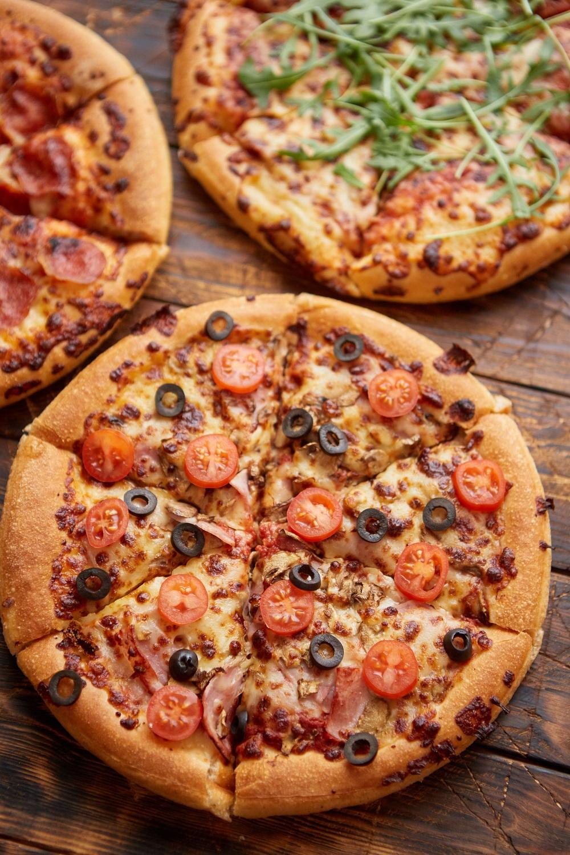 three pizza