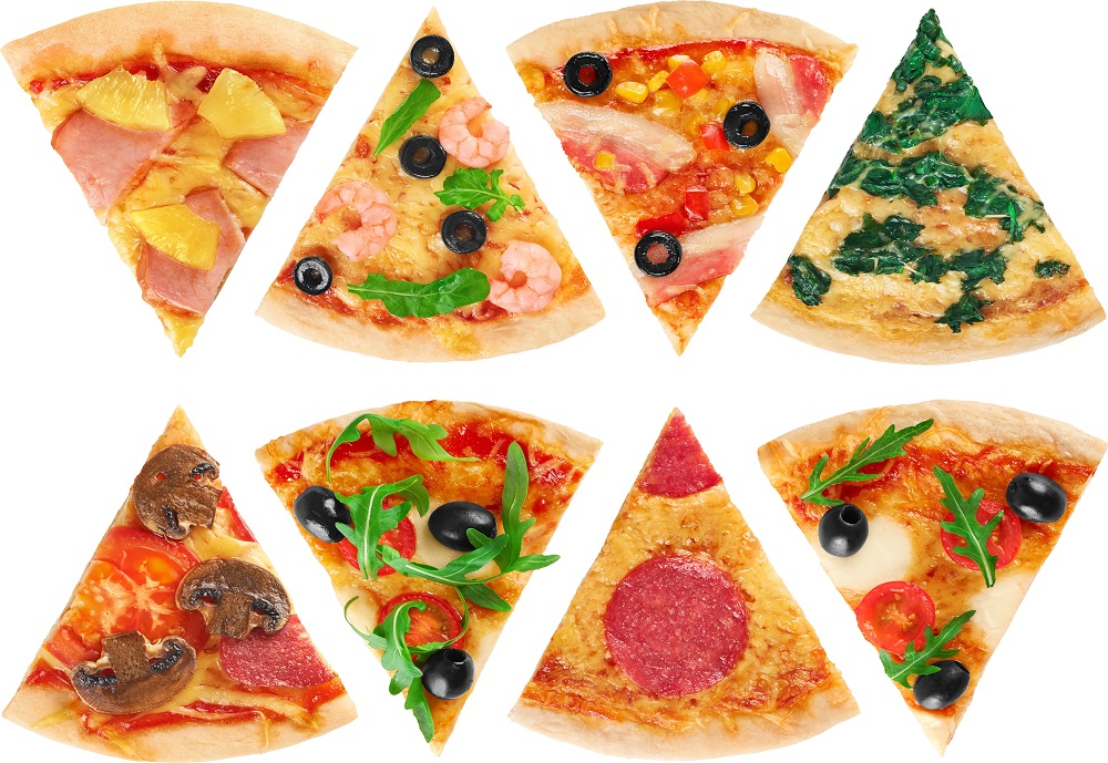 types of pizza slices