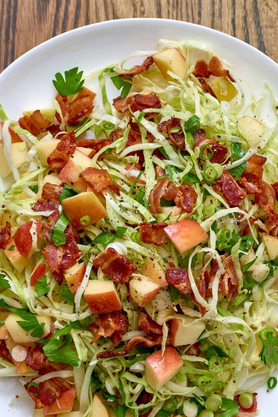 Apple bacon slaw