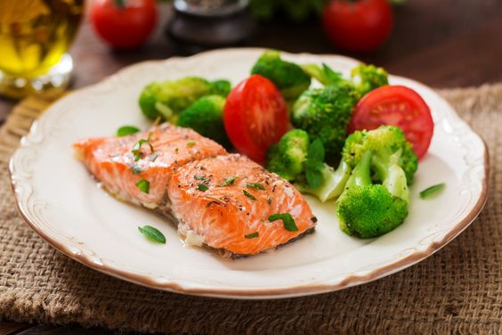 Instant pot salmon and broccoli