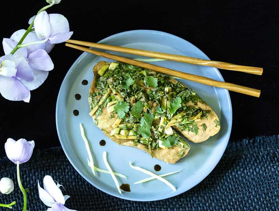 Instant pot steamed fish ginger scallion fish