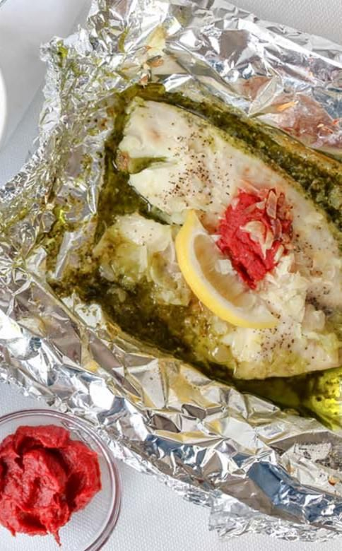 Instant pot tilapia and pesto packets
