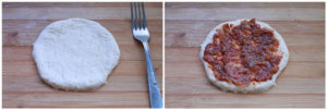 zucchini pizza bites step5 and 6