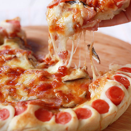 hot dog pizza