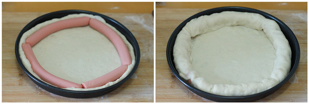 hot dog pizza step3