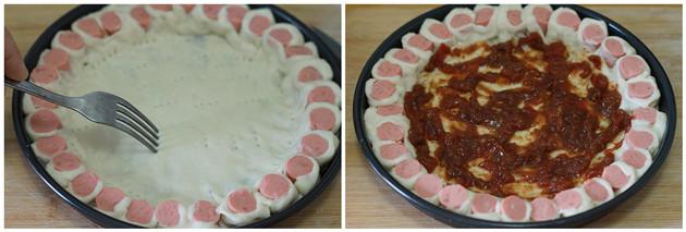 hot dog pizza step4