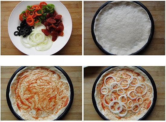 olives pizza step3