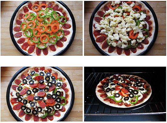 olives pizza step4