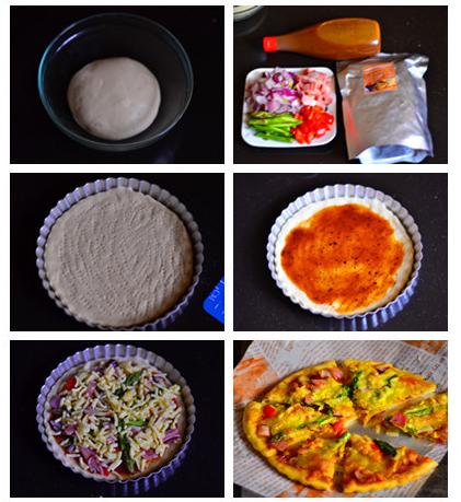 steps to make Asparagus Pizza